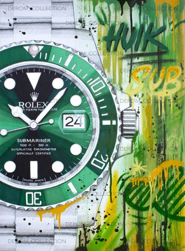 Rolex-hulk-art